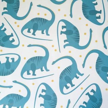 Geschenkpapier Dino, blau