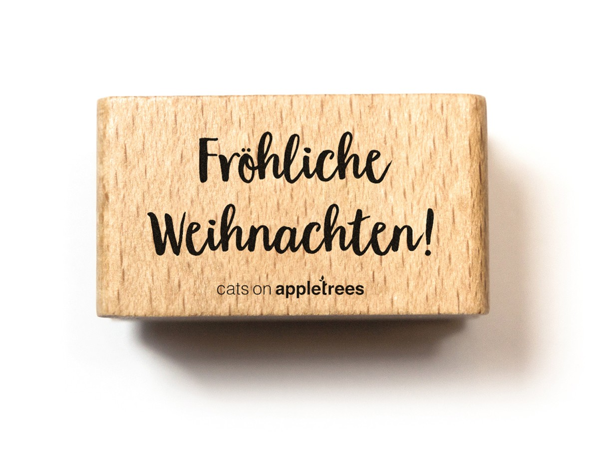 stempel schriftzug fr hliche weihnachten. Black Bedroom Furniture Sets. Home Design Ideas
