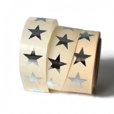 Aufkleber kleine Sterne / silber / 20 Stück