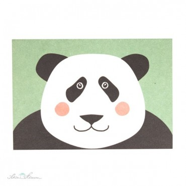 Postkarte Panda, mintgrün