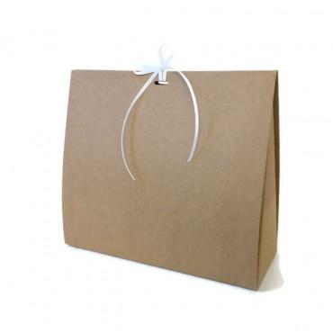 Geschenkbox Macy, Kraftkarton, 22 x 19 x 8 cm
