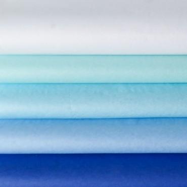 Seidenpapier Set, blau