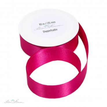 10 m Geschenkband, pink / 2.5 cm breit