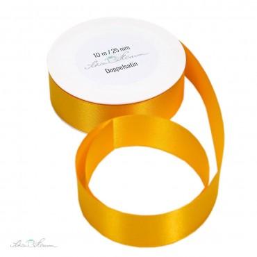10 m Geschenkband, gelb / 2.5 cm breit