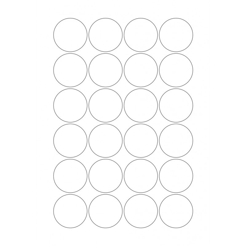 Aufkleber, A4, Blanko rund