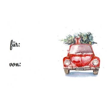 Aufkleber, Lucky Christmas Car, von-für