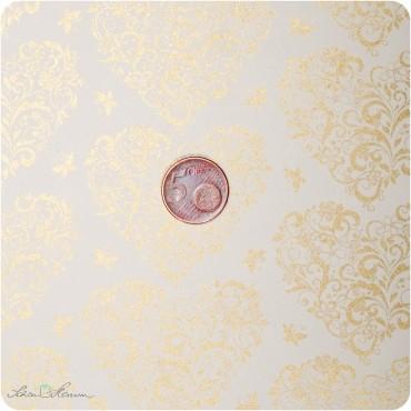 Geschenkpapier Herz / beige / 50 x 70 cm