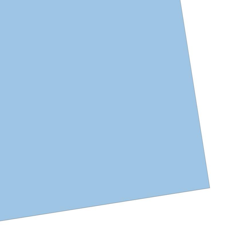 Geschenkpapier, einfarbig, himmelblau, frei & frisch, 50 x 70 cm