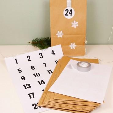 Verpackungspaket, Adventskalender Schneeflocke