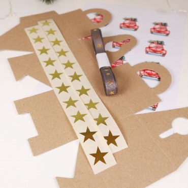 Verpackungsset, Lucky Christmas Car, 9 Teile