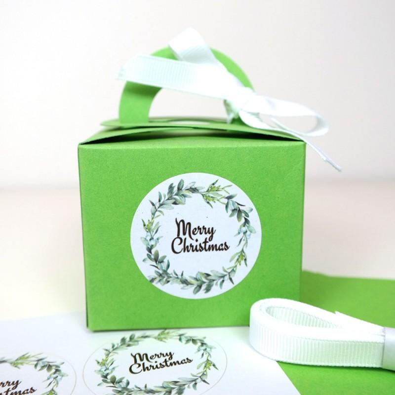Verpackungsset, Grün, Merry Christmas, 14 Teile