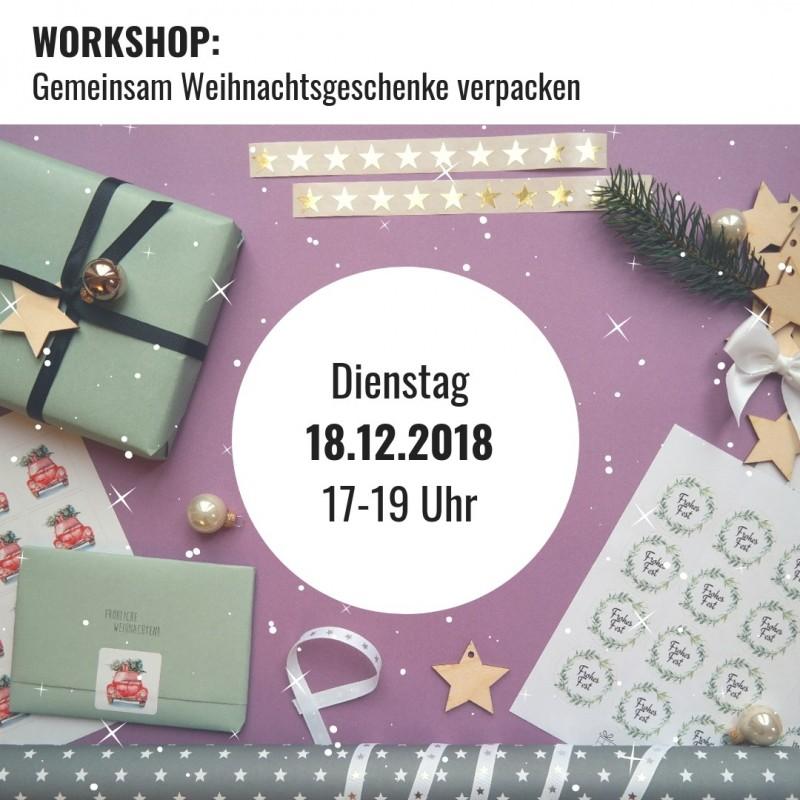WORKSHOP - 18.12.2018, 2h, Gemeinsam Weihnachtsgeschenke verpacken