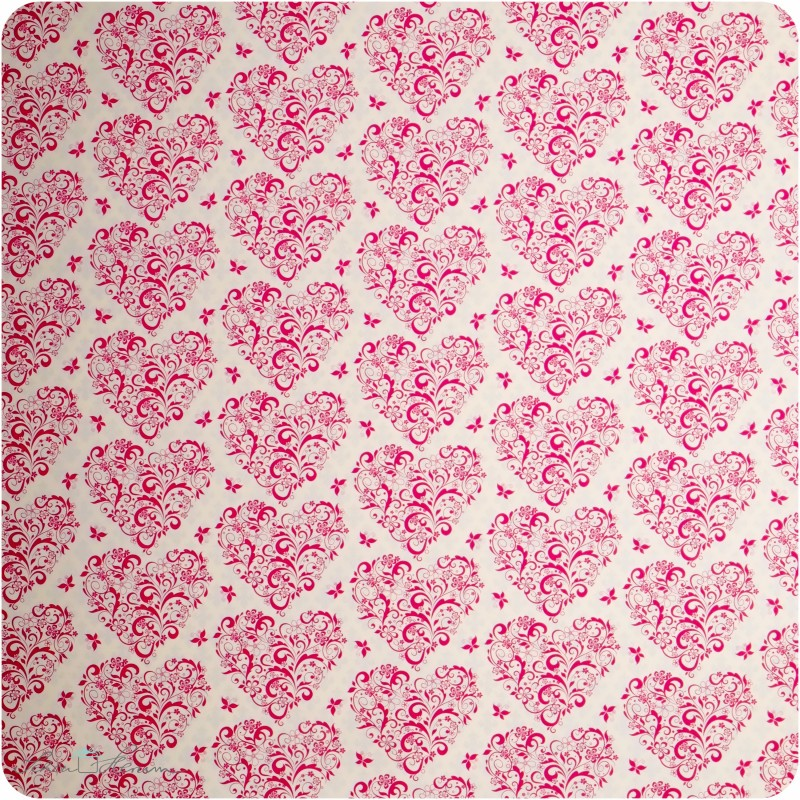 Geschenkpapier Herz / pink / 50 x 70 cm