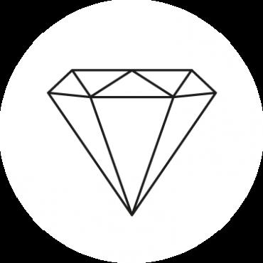 Diamant Aufkleber