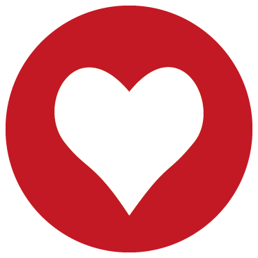 Aufkleber Herz / rot