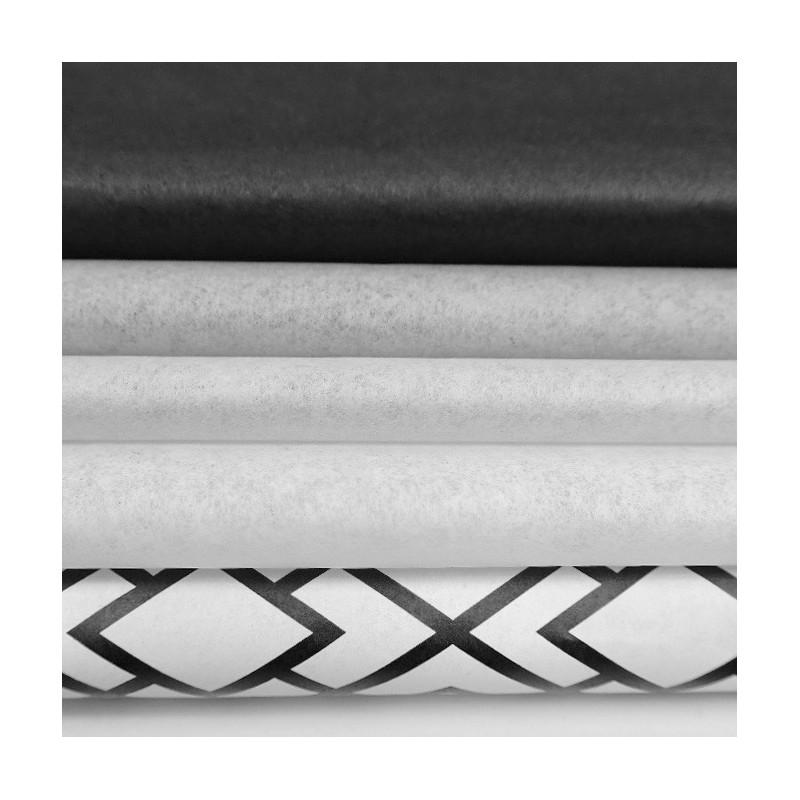 Seidenpapier Set, schwarz-weiß-grau