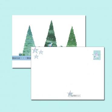 Postkarte, A6, Wichtelpost, wichtelig!, watercolor, Rückseite