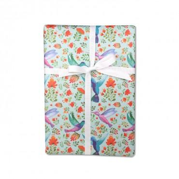 Geschenkpapier, Kolibris im Paradies, bunt, 50 x 70 cm, Geschenk