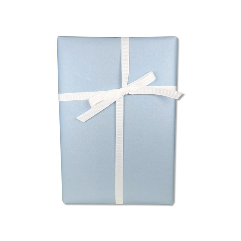 Geschenkpapier, einfarbig, himmelblau, frei & leicht, 50 x 70 cm, Geschenk