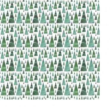 Geschenkpapier, Tannen, Tannenwald, 50 x 70 cm, 1 Bogen ohne Geschenkband