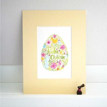 Frohe Ostern, Grußkarte, Dekoration