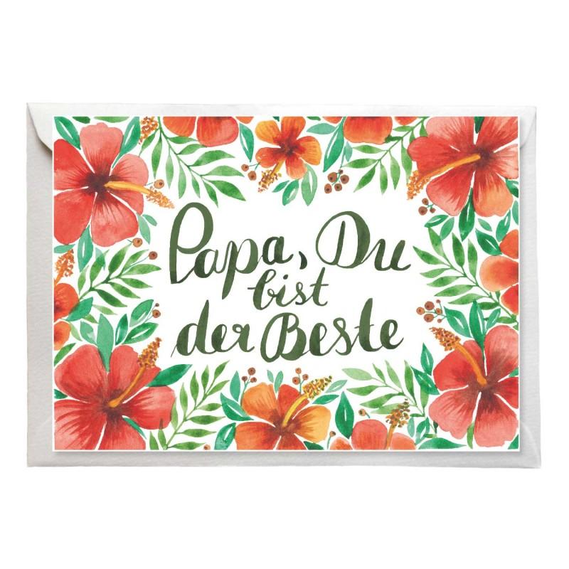 """Postkarte """"Papa, Du bist der Beste"""" mit Umschlag,  Aloha zum Vatertag"""