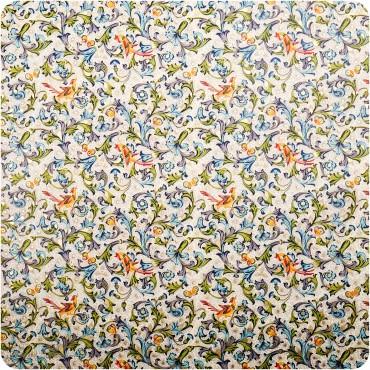 Geschenkpapier Vögel, Florentiner Stil  / bunt / 50 x 70 cm