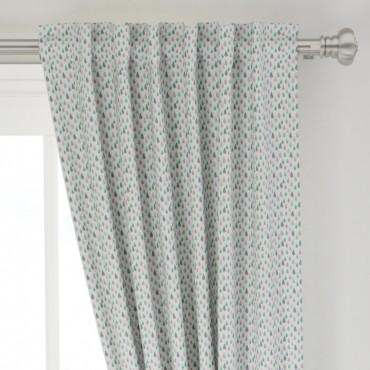 Stoff Vorhang, Tropfen, watercolor blau grün grau