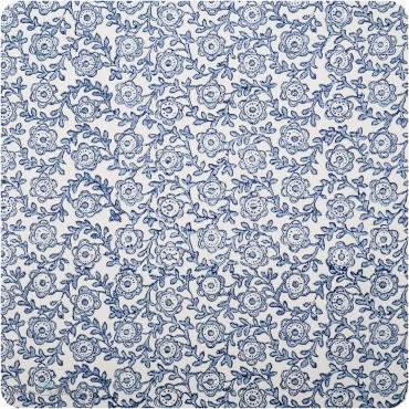 Geschenkpapier Blumen  / blau / 50 x 70 cm