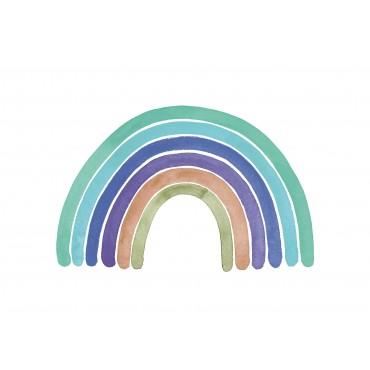 Regenbogen, blau grün braun
