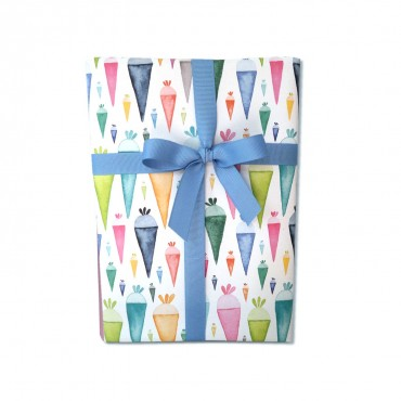 Geschenkpapier, Zuckertüten, Einschulung, bunt, 50 x 70 cm