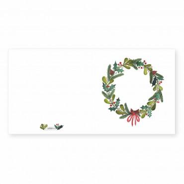 Klappkarte, Weihnachtskranz, quadratisch, 14,8 x 14,8, mit Umschlag