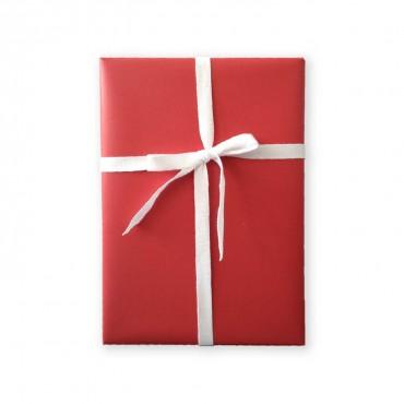 Geschenkpapier, einfarbig, rot, festlich und warm, 1 Bogen 50 x 70 cm
