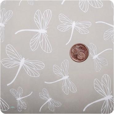 Geschenkpapier Libelle / Silber / 50 x 70 cm