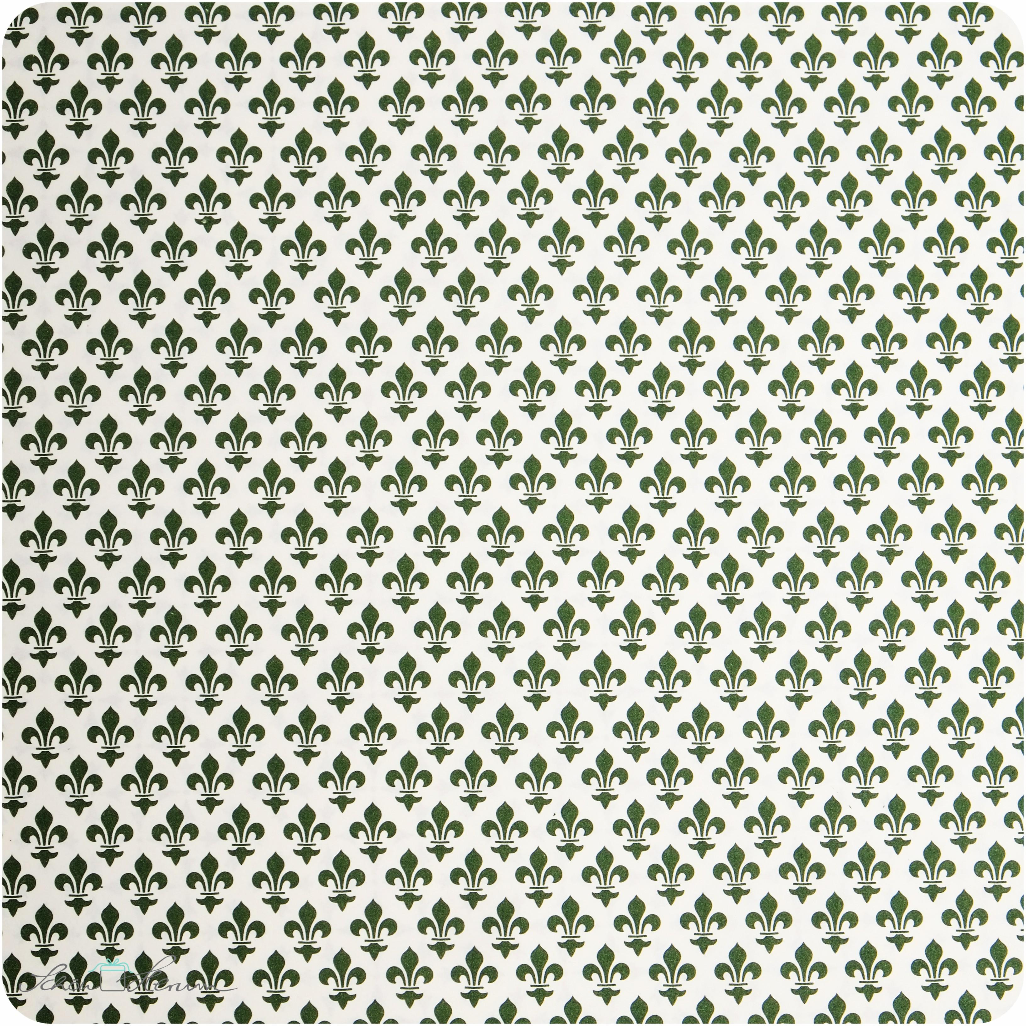 Geschenkpapier franz sische lilie gr n 50 x 70 cm for Couchtisch 50 x 70
