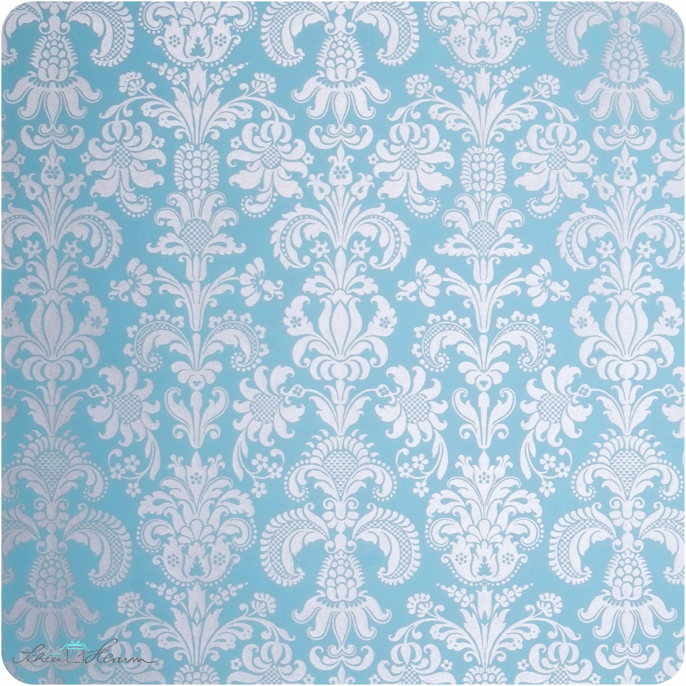 geschenkpapier gobelin silber und blau 50 x 70 cm. Black Bedroom Furniture Sets. Home Design Ideas