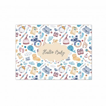 """Postkarte """"Hallo Baby"""" neutral für Junge oder Mädchen"""