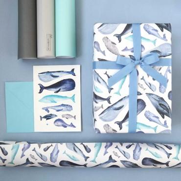 Inspiration Geschenkverpackung Walfische