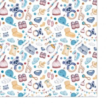 Geschenkpapier, Baby neutral, bunt, 1 Bogen, 50 x 70 cm