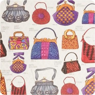Geschenkpapier Handtaschen / bunt / 50 x 70 cm