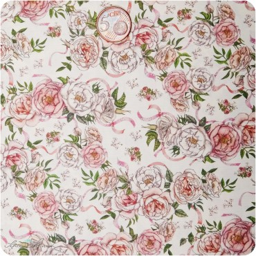 Geschenkpapier Rosen / rosa-rot / 50 x 70 cm