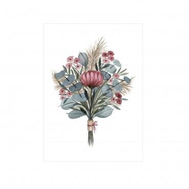 Postkarte, Boho Blumenstrauß, A6