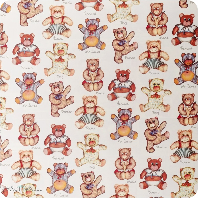Geschenkpapier Teddybär / bunt / 50 x 70 cm