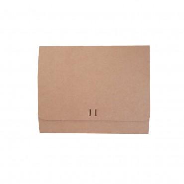 Geschenkbox, 20 x 25 x 8 cm, außen kraftbraun / innen weiß, Faltschachtel