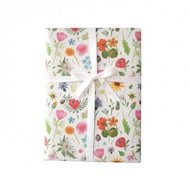 Geschenkpapier, Blumenwiese, bunt und blühend, 1 Bogen, 50 x 70 cm
