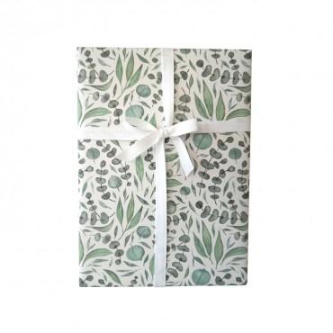 Geschenkpapier, Eukalyptus, grün und modern, 1 Bogen, 50 x 70 cm
