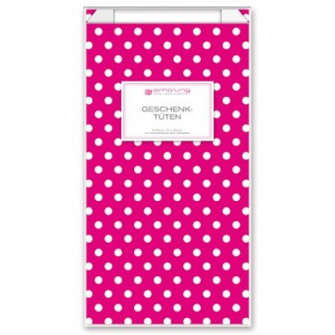Geschenktüten mit Etiketten / Vichy Karo / Pink
