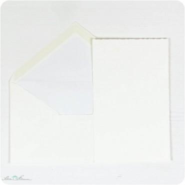Karte & Umschlag / creme