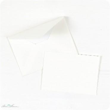 Karte & Umschlag / klein / creme