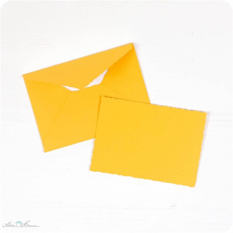 Karte & Umschlag / klein / sonnengelb
